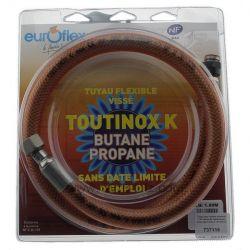 Tuyau pour butane propane 1 mt raccords mécaniques sans date limite d'utilisation , reference 737116