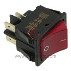 Interrupteur à voyant rouge , reference 220201
