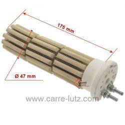 Résistance stéatite de chauffe eau 47x170 mm 900W Monophasé