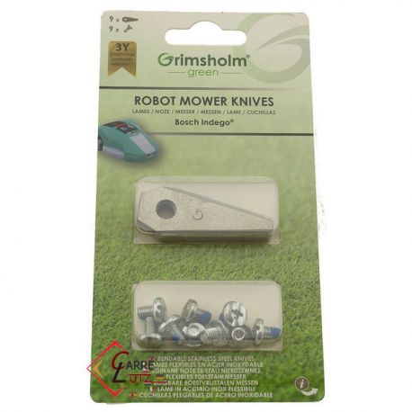9 Lames de robot tondeuse Bosch Ref. F016800321, reference 99879006